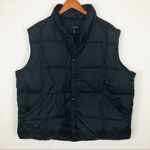 Lands End goose down feather puffer vest